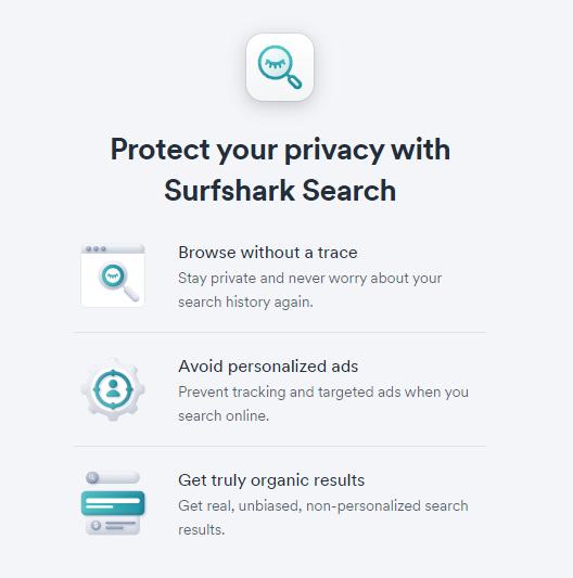 surfshark検索エンジン