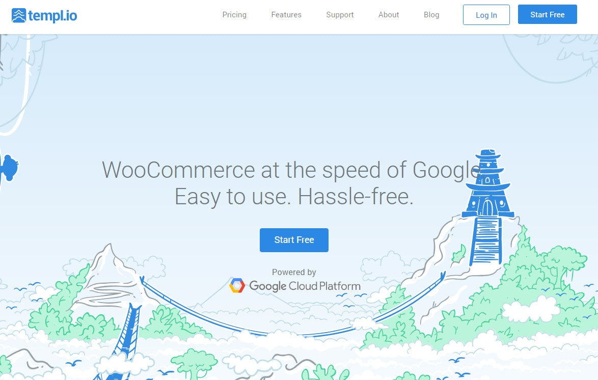 templ.io谷歌云平台woocommerce託管