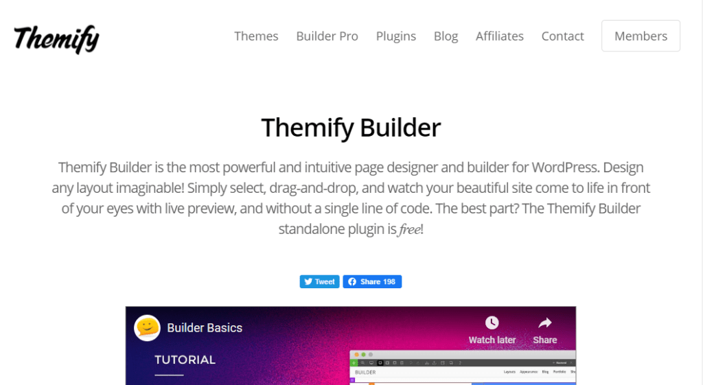 themify wordpress sidebygger