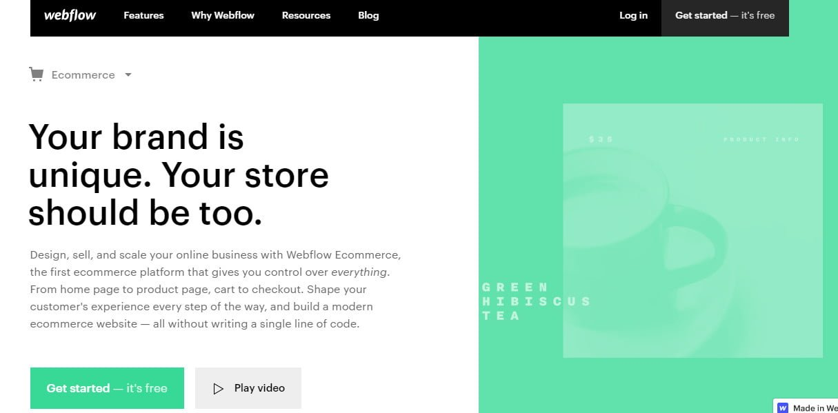 E-commerce Webflow