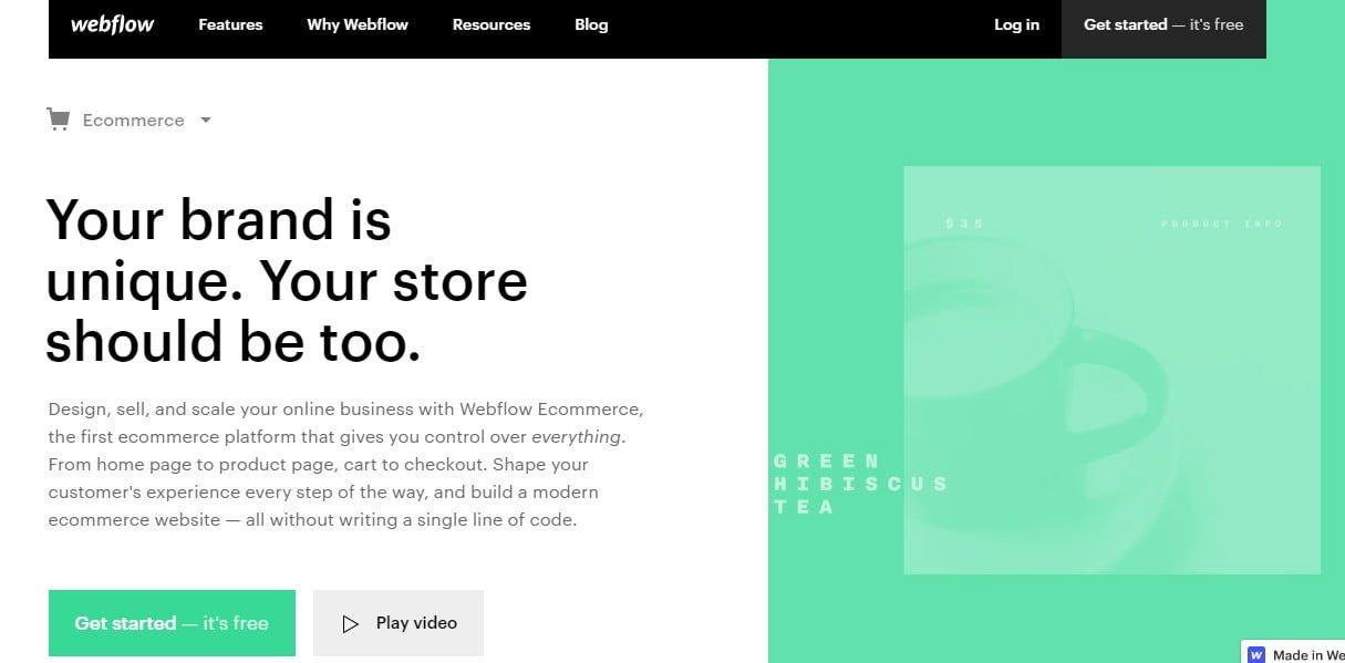Webflow-e-handel