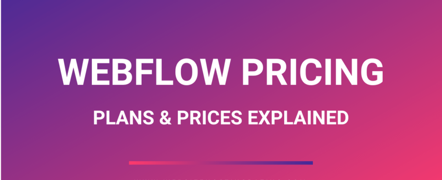 webflow pricing plans