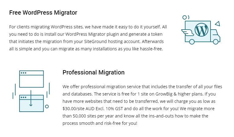 website transfer services
