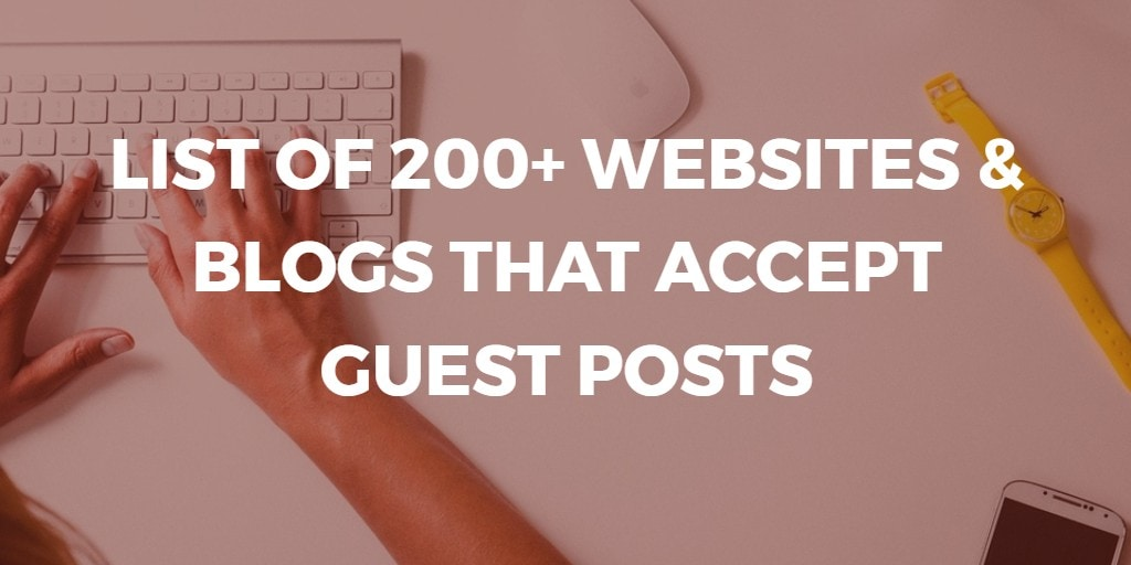 websites that accept guest blog posts