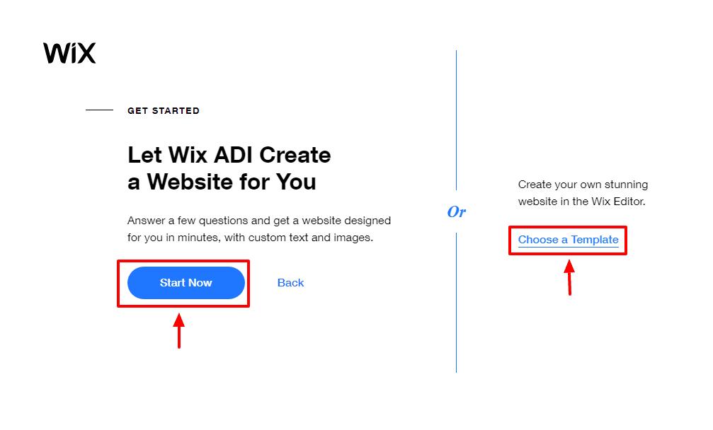 scegliere Wix ADI o un modello