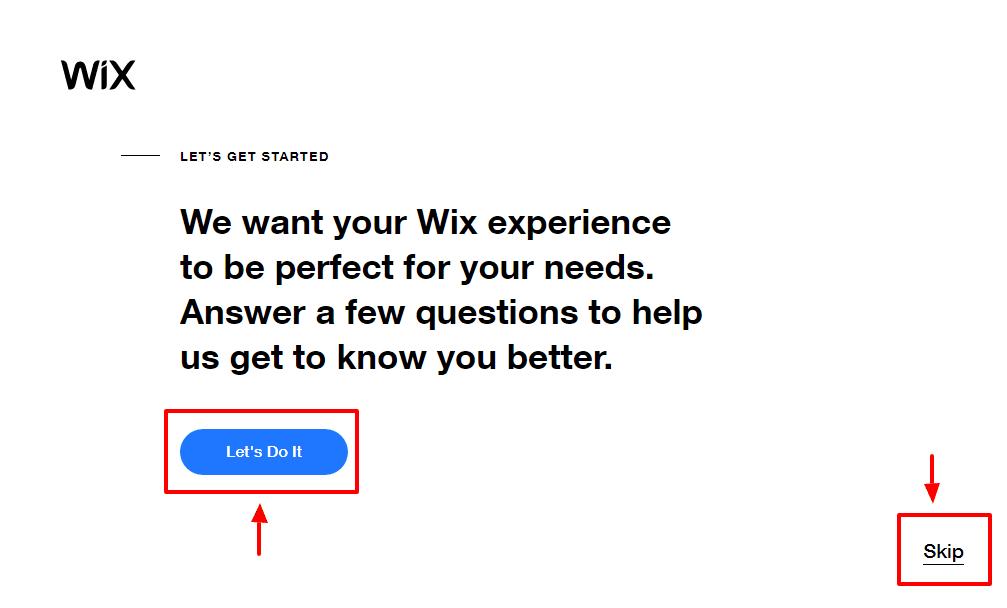 wix pagina di benvenuto ignorabile