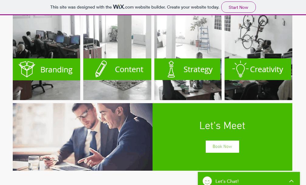 nuovo sito web alimentato da wix