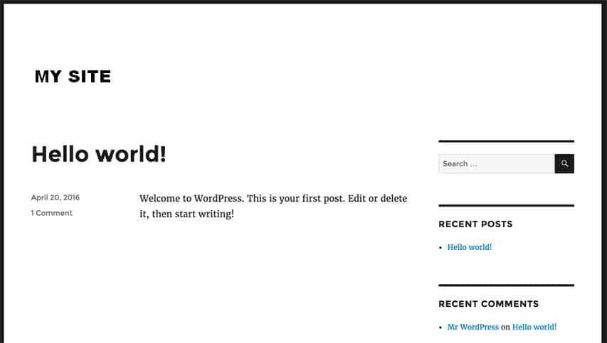 wordpress тема по подразбиране