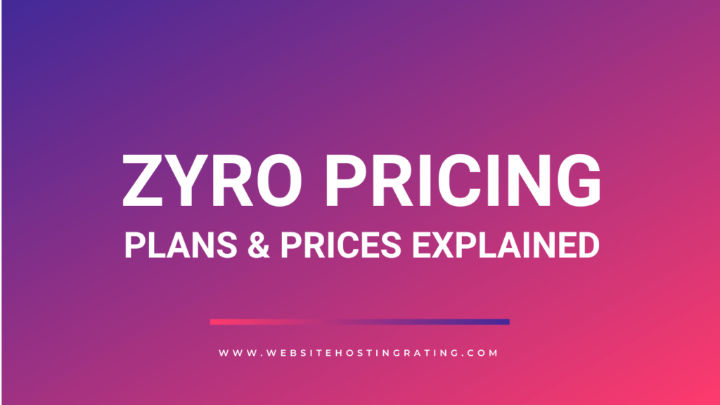 zyro pricing plans explained